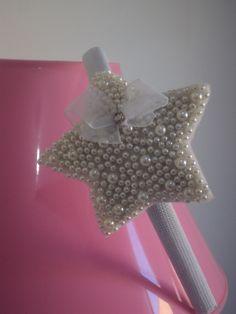 Linda Tiara flexível forrada com estrela bordado em pérolas R$ 17,90