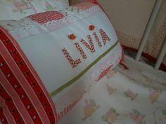 Almofada personalizada e colcha de piquet