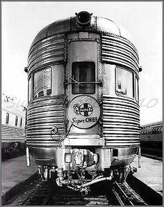 Santa FE Super Chief 1940 Vintage Poster Print Art Ferry Train Travel West Coast | eBay