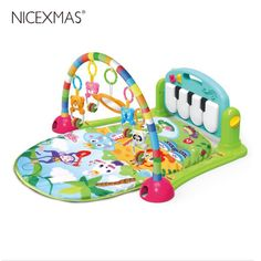 3 in 1 Baby Musical Gym Play Mat Fitness Kick Piano Activity Soft W// Control Toy