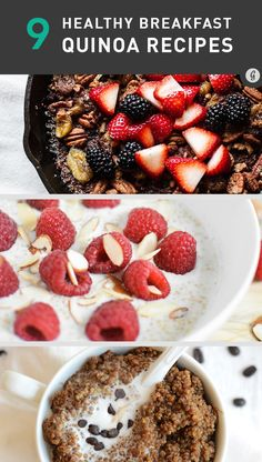 9 Breakfast Quinoa Recipes That'll Make You Forget All About Oatmeal #healthy #recipes #breakfast #quinoa