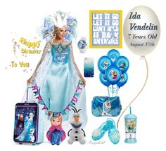 """Happy Birthday to my Granddaughter, Ida Vendelin, 7 Years Old, August 17th"" by ragnh-mjos ❤ liked on Polyvore featuring art"