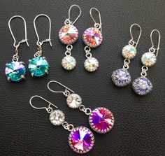 Hard Candy Jewels Rainbow Drop & Gum Drop Earrings Tracey Davis