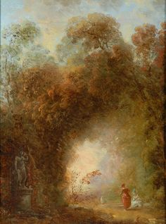 Jean-Honore Fragonard, Avenue with Figures