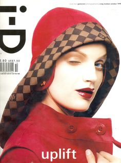 coco-lagerfeld: Guinevere Van Seenus/iD October 1999 By Craig Mcdean Id Magazine, Magazine Covers, Guinevere Van Seenus, Craig Mcdean, Linda Evangelista, Covergirl, Supermodels, Vintage Outfits, Winter Hats