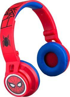 eKids - Marvel Spider-Man Homecoming 2 Wireless On-Ear Headphones - Black/Red Kids Headphones, White Headphones, Bluetooth Headphones, Over Ear Headphones, Toy Cars For Kids, Toys For Boys, Spider Man Homecoming 2, Superhero Room, Day Use