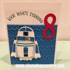 Star wards r2d2 punch art happy birthday by rcreativecreations star wars r2 d2 birthday card bookmarktalkfo Choice Image