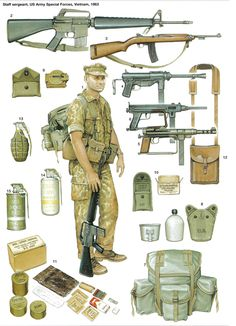 'Staff sergeant, US Army Special Forces, Vietnam, By Kevin Lyles - Military Weapons, Military Art, Military History, Military Aircraft, Vietnam Veterans, Vietnam War, Mighty Power Rangers, American Civil War, American Soldiers