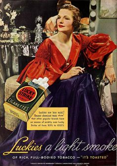 Evening dress featured in Lucky Strike ad, April 1936