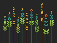 download Simple Flowers Background free vector