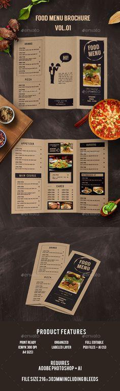 Simple Food Menu Template Food menu template, Menu templates and - a la carte menu template