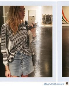 #TrendReport: Denim Explosion Camille Charriere Denim Skirt