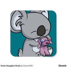 Sweet Snuggles! Koala Square Sticker