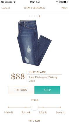 Just Black Lara Distressed Skinny Jean from Stitch Fix: stitchfix.com/referral/3347556