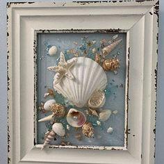 Starfish Wall Art, Beach Glass Art for Bathroom Decor, Coastal Decor Wall Hanging Starfish Art, Sea Glass Art for Nautical Decor Seashell Art, Seashell Crafts, Beach Crafts, Seashell Wreath, Starfish Art, Rustic Wall Art, Coastal Wall Art, Coastal Decor, Sea Glass Art