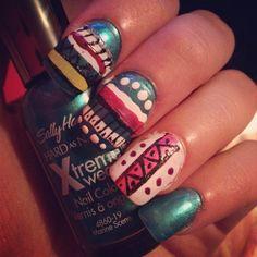 My tribal nails #nails #polish