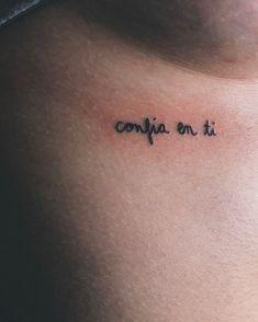 tattoos in spanish tattoos in spanish _ tattoos in spanish meaningful _ tattoos in spanish words _ tattoos in spanish for women Bild Tattoos, Body Art Tattoos, Tatoos, Tatuajes Tattoos, Small Girl Tattoos, Tattoos For Women, Subtle Tattoos, Tattoo Feminina, Beste Tattoo