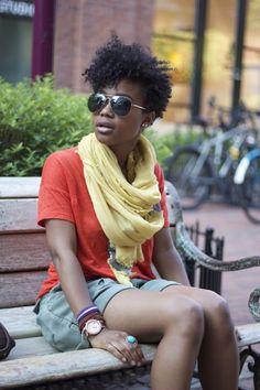 Love the look #curlyhairrocks #naturalhair #curlyhair #blackhair #bhi