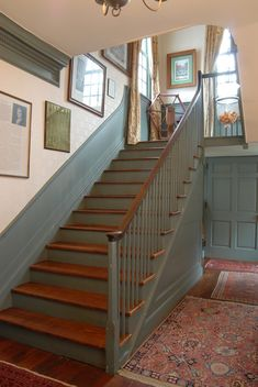 Hopsewee Plantation, Georgetown, South Carolina. Later stair in 1733-1740 house.