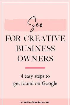 SEO for creative business owners