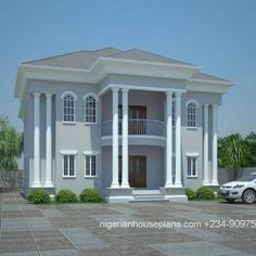 5 Bedroom duplex house plan in Nigeria, Affordable nigerian house plan for sale online. Beautiful Nigerian House Plans For sale . Plan Duplex, Duplex House Plans, Dream House Plans, 2 Storey House Design, Duplex House Design, House Front Design, 6 Bedroom House Plans, House Plans Mansion, Bungalow Haus Design