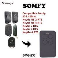 Somfy Telis 1 Rts Somfy Telis Soliris Rts Cloe Compatible 433mhz Remote Control Universal Gate Garage Re Remote Control Garage Door Opener Remote Garage Remote