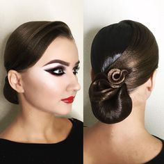 Perfectly styled hair is an important part of the overall look for ballroom dance competitors. Ballroom Hair stylists can get very creative. Hairstyle by me 👸💇. Make up 💄💋 by Dance Hairstyles, Wedding Hairstyles, Celebrity Hairstyles, Vintage Hairstyles, Ballroom Dance Hair, Bleached Hair Repair, Competition Hair, Instagram Hairstyles, Roll Hairstyle
