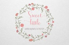 Sweet Little Hand Drawn Elements by Love & Light on @creativemarket