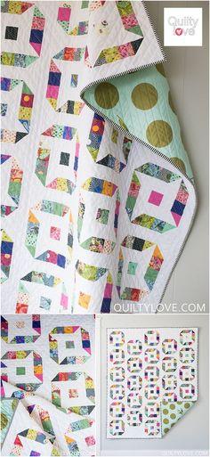 Quilty Love | Ninja Stars Quilt Pattern |