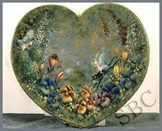 Faerie garden heart stool  Bobbie Takashina