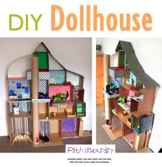 DIY dollhouse. Cardboard boxes transformed!