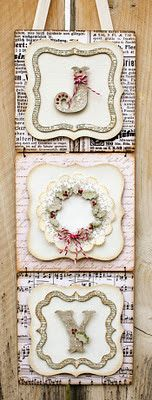 Joy Banner - recreate using Cricut Art Philosophy Cartridge 7 Bishop Bishop Everett Close To My Heart mix & mingle album Noel Christmas, Christmas Projects, All Things Christmas, Winter Christmas, Holiday Crafts, Holiday Fun, Christmas Ornaments, Xmas, Christmas Ideas