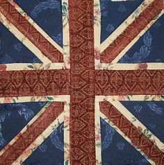 Foundation pieced Union Jack. I feel a pillow coming on, after watching Sherlock and seeing the pillow in John's chair.
