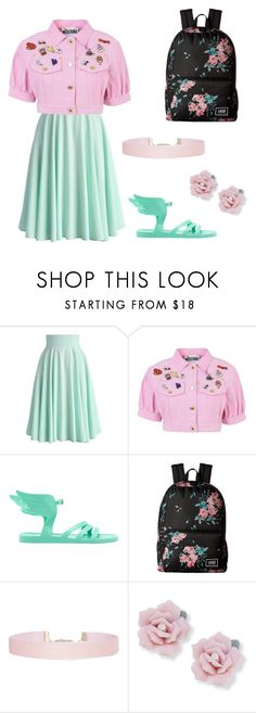 """Untitled #11"" by hela15 ❤ liked on Polyvore featuring Chicwish, Moschino, Ancient Greek Sandals, Vans, Humble Chic and Palm Beach Jewelry"