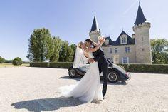 Couples de Mariés Couple de mariés au chateau Agassac Ludon-Médoc Bordeaux France - wedding - Sébastien Huruguen - photographe de mariage à Bordeaux - MyWed