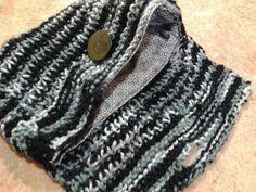 Bolso tejido en dos agujas con forro interior