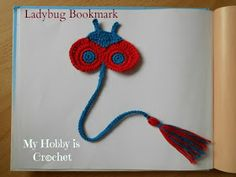 crochet ladybug bookmark free pattern