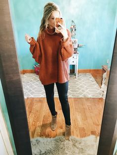 Fabulous Winter Outfits Ideas With Leather Leggings 38 Cute Work Outfits, Simple Fall Outfits, Fall Winter Outfits, Autumn Winter Fashion, Casual Outfits, Winter Style, Picture Outfits, Winter Wear, Fall Fashion