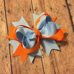 Custom order made to match hair bow orange fall baby for toddler