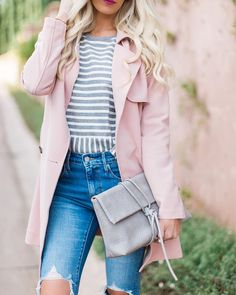 "2,850 Likes, 59 Comments - Mckenna Bleu (@mckennableu) on Instagram: ""This blush tench is currently 40% off, def a must have jacket!  http://liketk.it/2sz7B #liketkit…"""