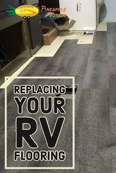 Camping ideas How we replaced the flooring in our RV with peel-and-stick vinyl planks. Installing Vinyl Plank Flooring, Vinyl Wood Planks, Wood Plank Flooring, Wood Vinyl, Diy Flooring, Peel And Stick Floor, Peel And Stick Vinyl, Camper Flooring, Budget