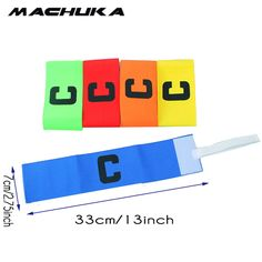 MACHUKA Football Elastic Captain Armband Soccer Rugby Sports Competition Adjustable Band Pack of 1 Color can mix and match #Affiliate