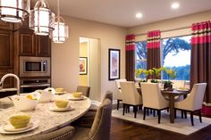 McMillin Homes - Copper Ridge Modern Interior, Interior Design, Kitchen Shop, Progress Lighting, Traditional Kitchen, Kitchen Layout, Beautiful Kitchens, Lighting Design, Window Treatments
