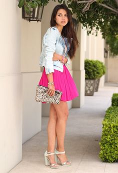 light, jeans, jacket, skirt, pink, heels #VeetEasyWax