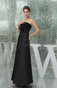7224134adad Black Modest Sleeveless Zipper Taffeta Floor Length Ruching Wedding Guest  Dress Long Bridesmaid Dresses