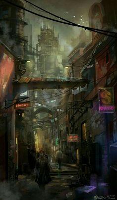 #cyberpunk #SciFi artist unknown