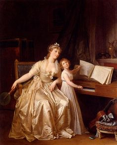 Marguerite Gerard --The Piano Lesson - Classic Art Paintings