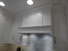 Exhaust hood cabinet at home.