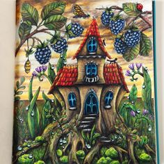 """Gefällt 40 Mal, 2 Kommentare - Dominika Kwiatkowska (@artistdkdesign) auf Instagram: """"Fairytale House Tutorial is up on my Channel Guys  my first page from new coloring book by…"""""""