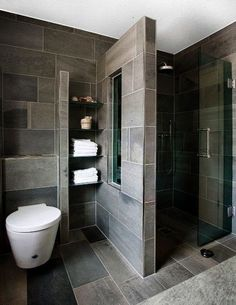65 Stunning Contemporary Bathroom Design Ideas To Inspire Your Next Renovation -. 65 Stunning Contemporary Bathroom Design Ideas To Inspire Your Next Renovation - Gravetics Contemporary Bathroom Designs, Bathroom Layout, Modern Bathroom Design, Bathroom Interior Design, Modern Bathrooms, Contemporary Design, Bathroom Mirrors, Interior Modern, Bath Design